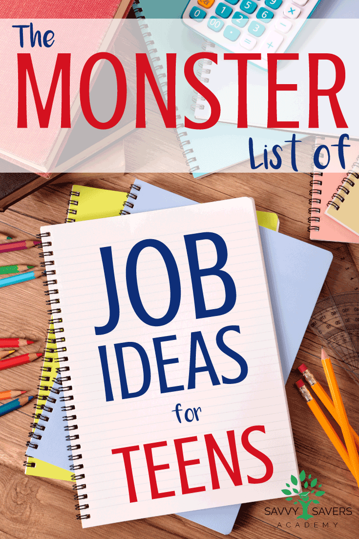Do you have teens that need a job? Here is a giant list of ideas that are NOT fast food.