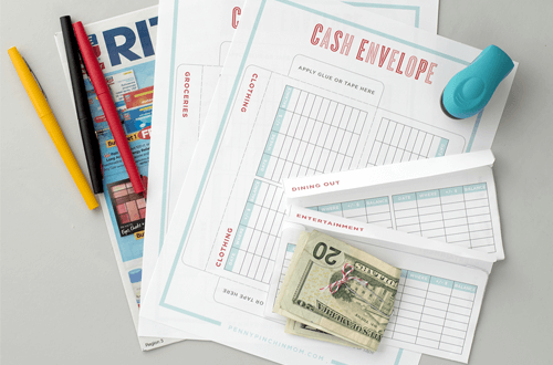 Printable cash envelopes that are great for sticking to your budget!