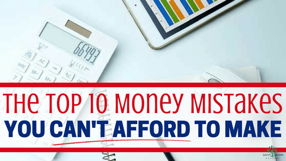 A list of money mistakes to avoid to make sure you have financial peace and can create a better financial plan and budget.