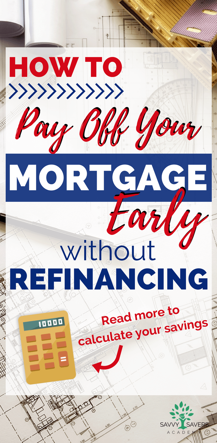 Paying off your mortgage early without a refinance is possible when you make biweekly payments and additional payments on your mortgage. Use the biweekly mortgage calculator to see how much money you can save.