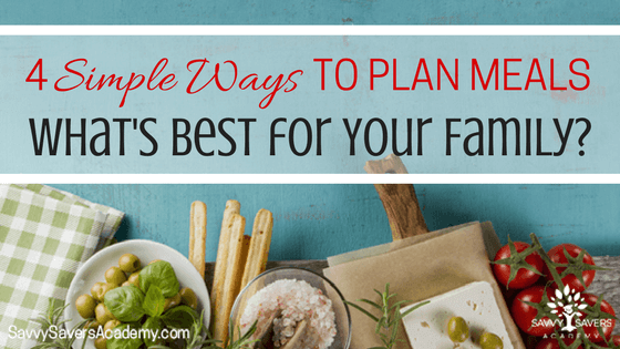 A few great ideas for how to plan meals. Need to try these!