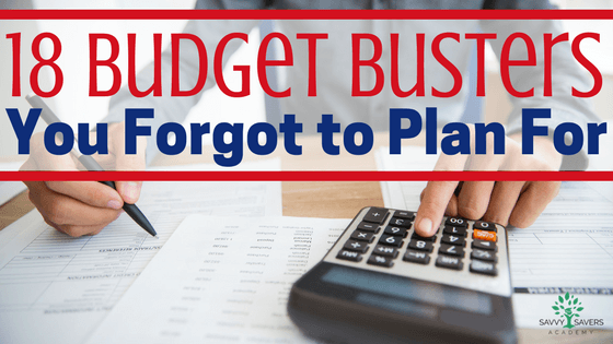 If you forget these items in your budget they can totally mess up your well laid plans.