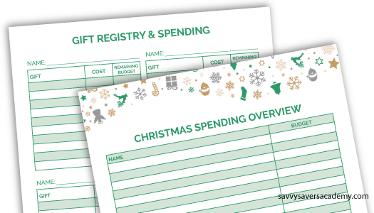 Free printable Christmas budget worksheet