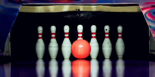 Bowling is a classic for date night, check out over a hundred more date night ideas.