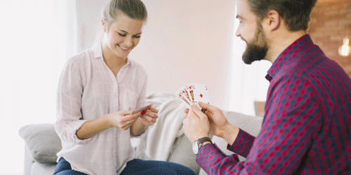 playing cards is perfect for a fun game night or date night when you're on a tight budget