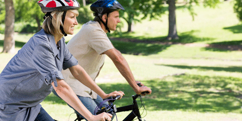 going for a bike ride is fun and a great way to stay active