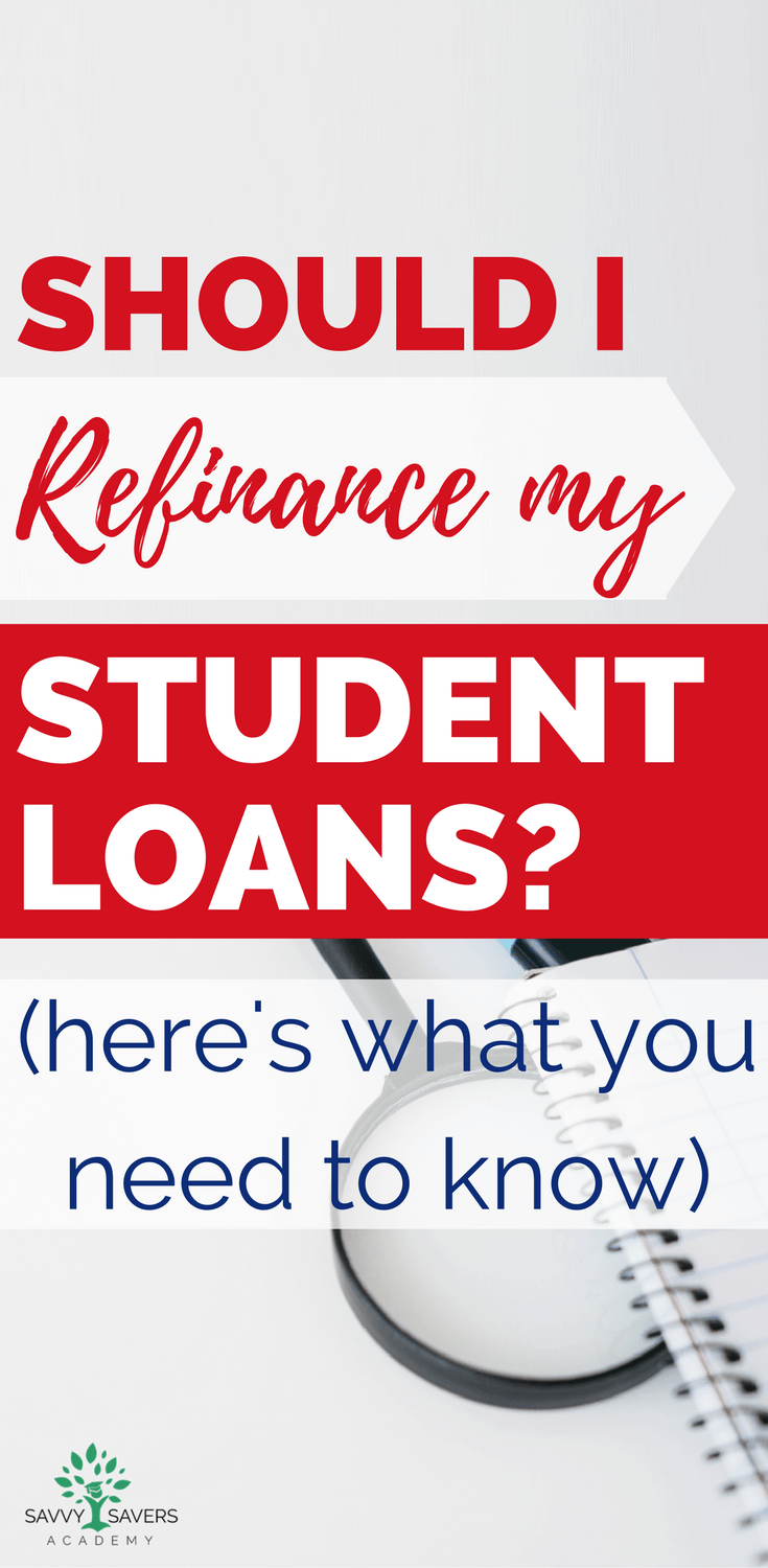If you are paying off student loans you might be considering a refinance. Here are some tips and things you need to know before applying for a personal loan and refinance. Find out when it's a good time to refinance and when you should hold off and wait or avoid it. #payoffdebt #studentloans
