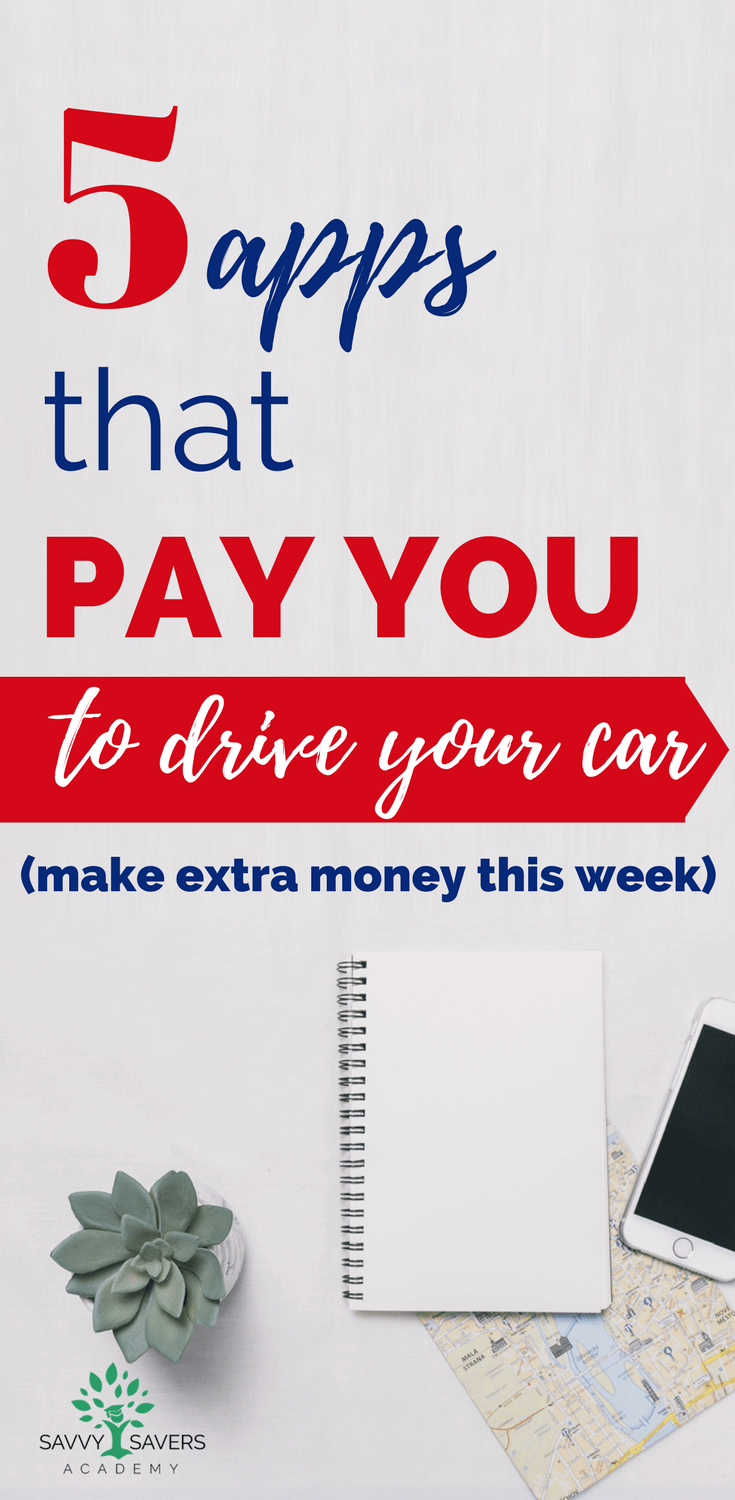 Looking for an easy way to make extra money fast? Get paid to drive your car! Check out how to get started with these five apps that pay you to give rides or run deliveries. #makeextramoney