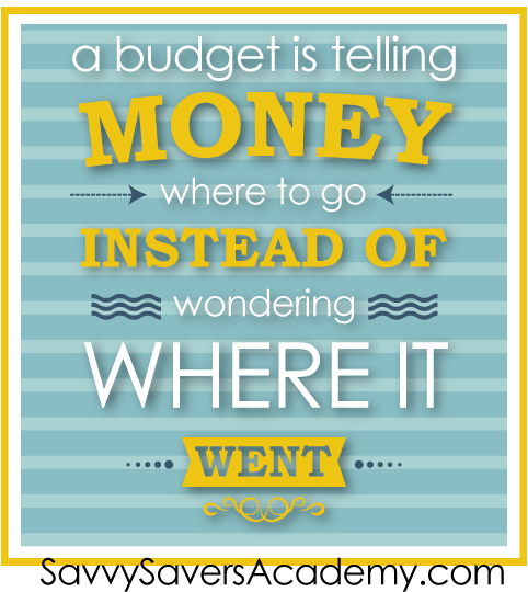 a budget is telling your money where to go instead of wondering where it went